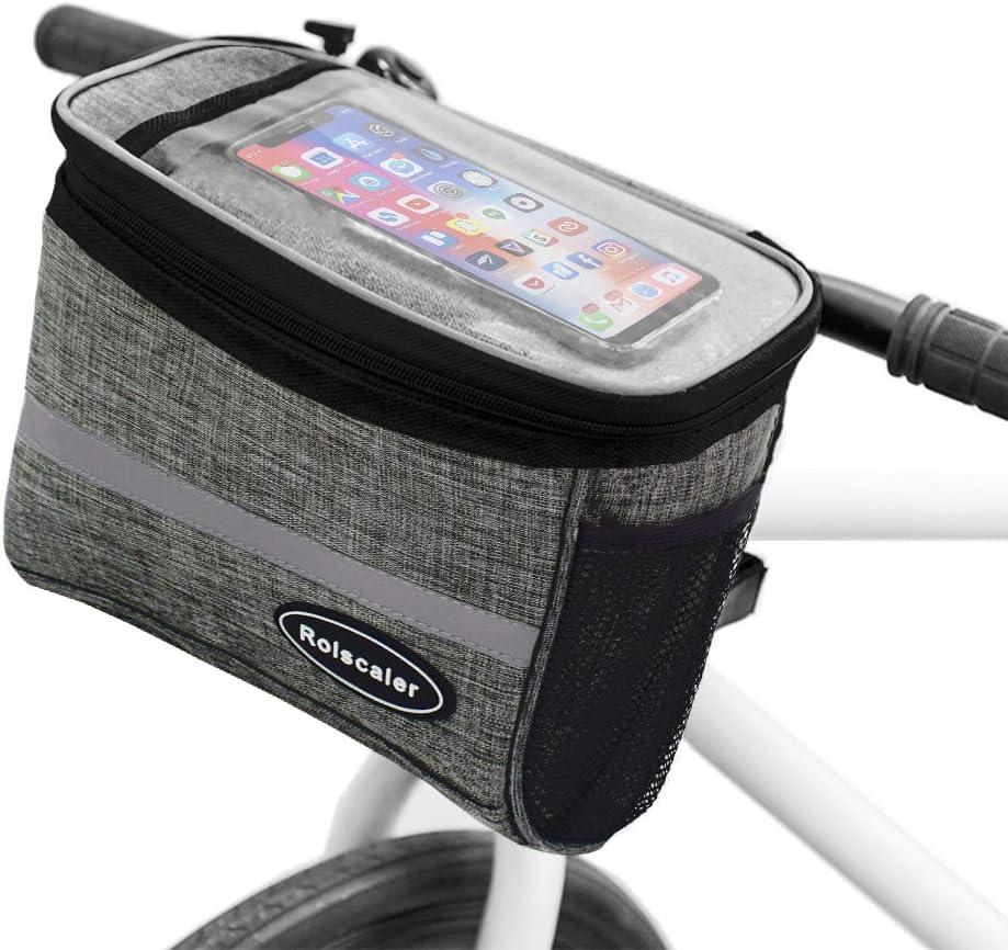 Bicycle Handlebar Basket Bag Bike Reflective Front Pannier Tube Waterproof Hot