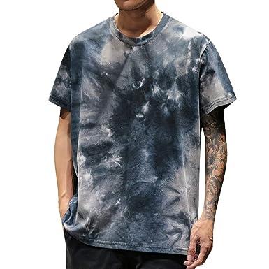 8fed6aae9cc9 2019 JJLIKER Men's Tie-Dye Multi Colored T-Shirt Hipster Graphic Print  Short Sleeve