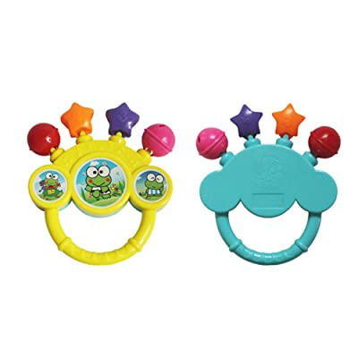 Newdiva Baby Hand Bell Toy for Baby Over 3 Month - Infant Baby Rattle Teether Toys, Kids Stroller Hanging Bell, Newborn Baby Car Crib Stroller Handbells Toys Cute Wind Chime and Squeak (1pcs,Random): Appliances