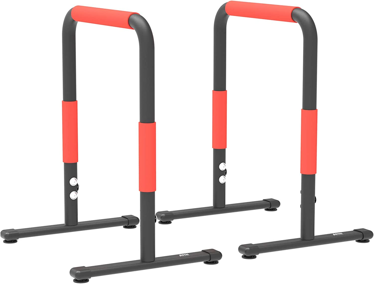 Royal Fitness Dip Bar Station Portable Heavy Duty Dip Station Home Gym Dip Stand Workout Calisthenics Equipment Parallel Bars Exercise Equalizer Bars Fitness