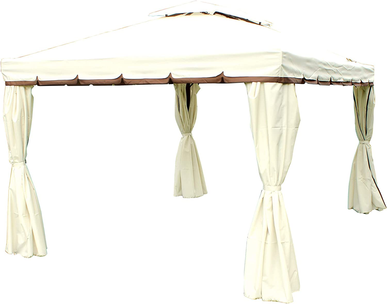 milanihome gazebo 3 X 3 de Aluminio Robusto con Lona impermeable y mosquiteras laterales para exterior y jardín: Amazon.es: Jardín