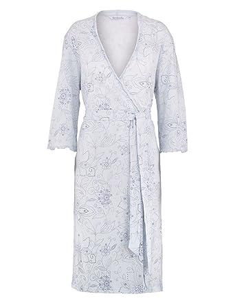 9d30842bdb ... best service 580f5 ace59 Slenderella HC7113 Womens Blue Floral Cotton Dressing  Gown Robe S (810 ...