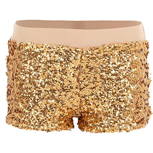 Alexandra Collection Youth Lined Sequin Dance Shorts Gold Large]()
