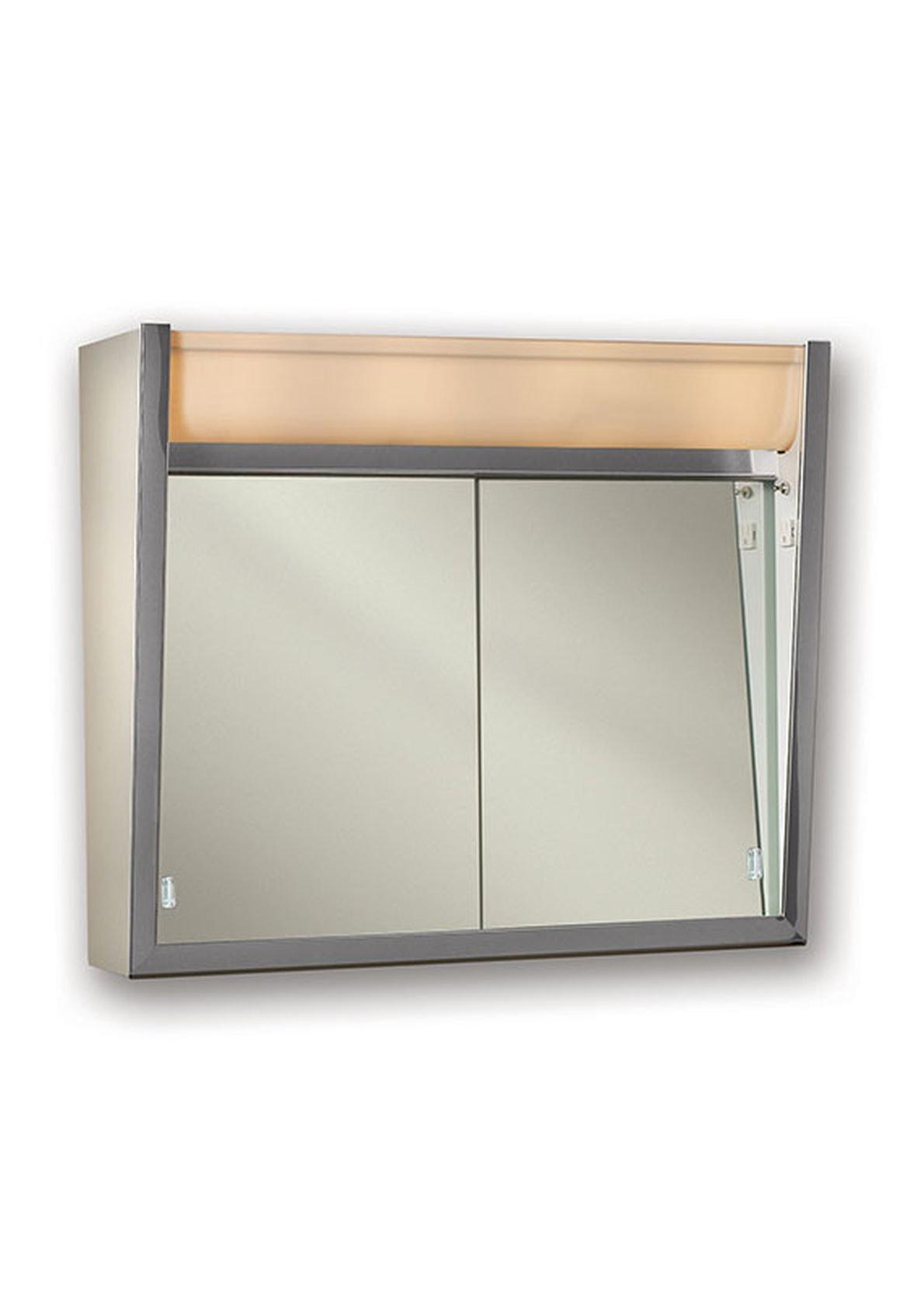 Jensen 124LPX Lighted Sliding Doors Medicine Cabinet, 24'' x 23.5''