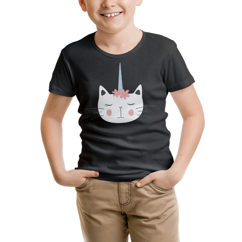 Websi Wihey Cute Cat Unicorn Fashion Boys t-Shirts for Teenage