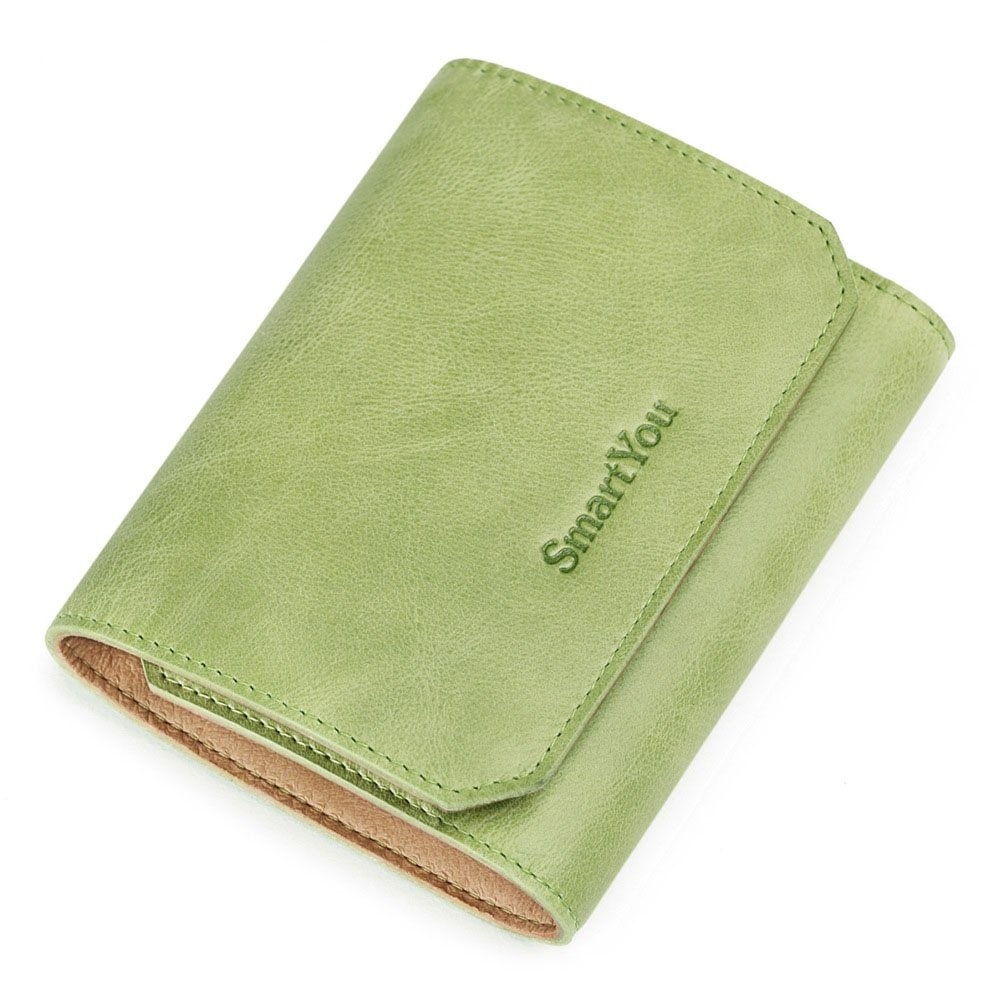Green Women's Leather Mini Zero Wallet Purse Hand Bag Light Screens More Practical Lady Free Lettering Women's Wallet with Many Card Slots Gifts for Women and Girls (color   Pink)