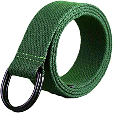Canvas Double Ring Metal Buckle Ayli Mens Canvas Webbed Belt