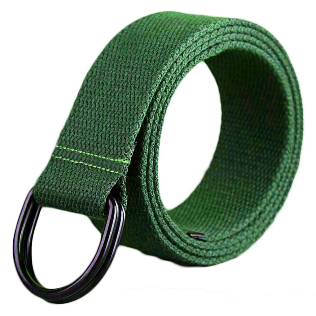 Double Ring Metal Buckle Ayli Mens Casual Canvas Belt
