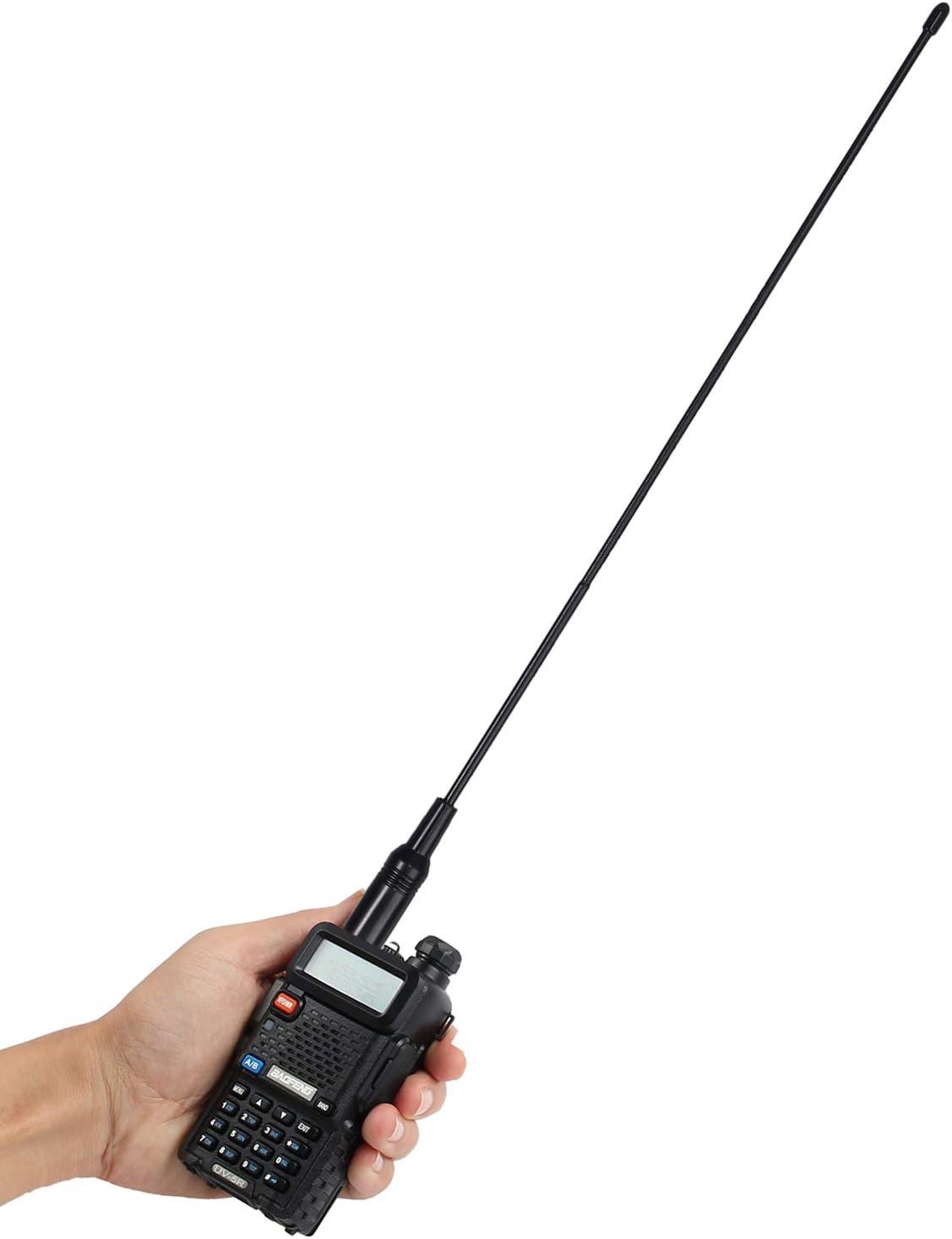 Antena para Walkie Talkie Alta Ganancia Antena Walky Talky SMA-F Antena para Radio Emisora de 40cm