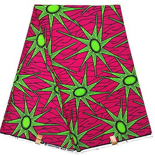 Funnytoday365 Nice Hollandais Wax Super Wax Hollandais Dutch Wax African Wax Hollandais Design for Women Dress