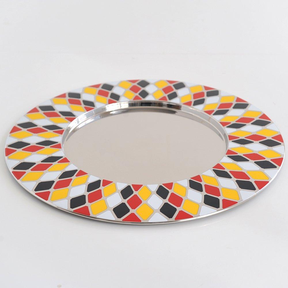 Alessi MW33 Circus Sottopiatto in Acciaio Inossidabile 18//10 Multicolore