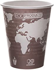 Eco-Products World Art Renewable & Compostable Hot Cups, 8 oz, Case of 1000 (EP-BHC8-WA )