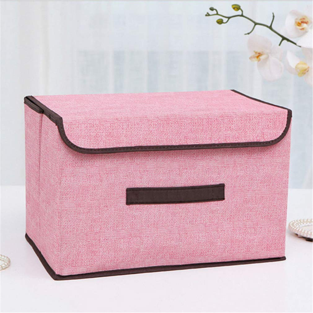 VADOLY Have A Lid Multifunction Foldable Covered Storage Box Organizer Clothing Underwear Finishing Wardrobe Container