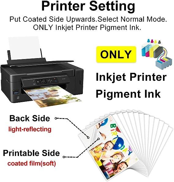 T-Shirtpapier zum Aufbügeln dunkel für Inkjetdrucker für dunkle Textilien