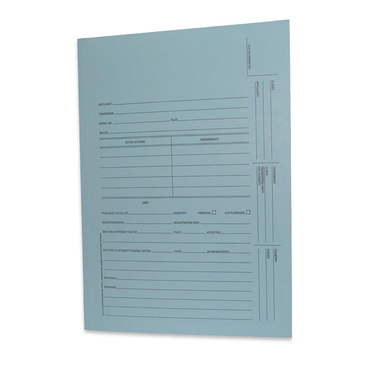 Kruysman/Redweld Trademark Folder, 3 Panel, 10 1/4'' x 14 1/2'' When Folded, Blue, 100 per Box