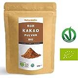 Roh Kakao Pulver Bio 900g   Organic Raw Cacao Powder   100% Rohkost, Natürlich, Rein. Produziert in Peru aus der Theobroma Cocoa Pflanze   Superfood reich an Antioxidantien, Mineralien und Vitaminen.