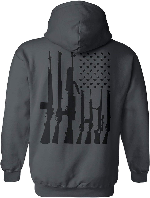 Haase Unlimited OFFicial store Machine Gun Great interest American Unisex - Flag Amendment 2nd
