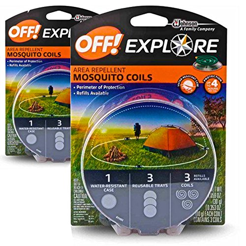 OFF! Mosquito Coils - Explore 2-Pack (6 Coils (Insect Repellent Natrapel Plus Spray)