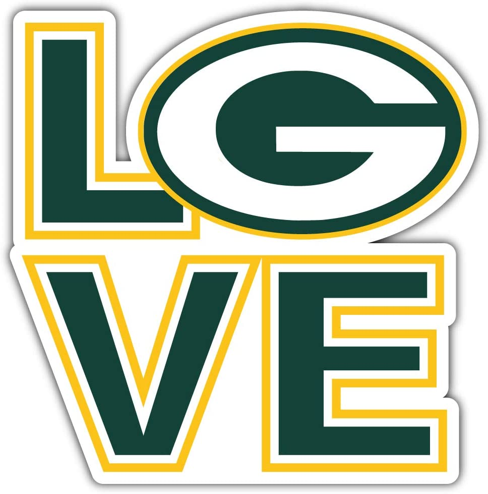 Packers Football - Green Bay Sport Love Decal 5'' X 5''