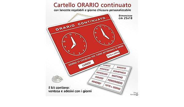 Politarghe - Cartel con horario comercial, ajustable, para ...