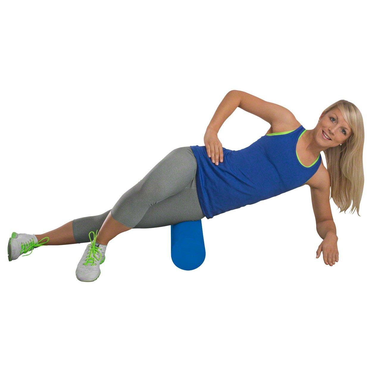softX® Faszien-Rolle 145 Mini 30cm lang Ø14,5cm Selbstmassage Balance weich blau