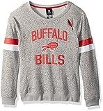 Outerstuff NFL Girls 7-16″My City Long Sleeve Boatneck Pullover Sweatshirt-Heather Grey-M(10-12), Buffalo Bills