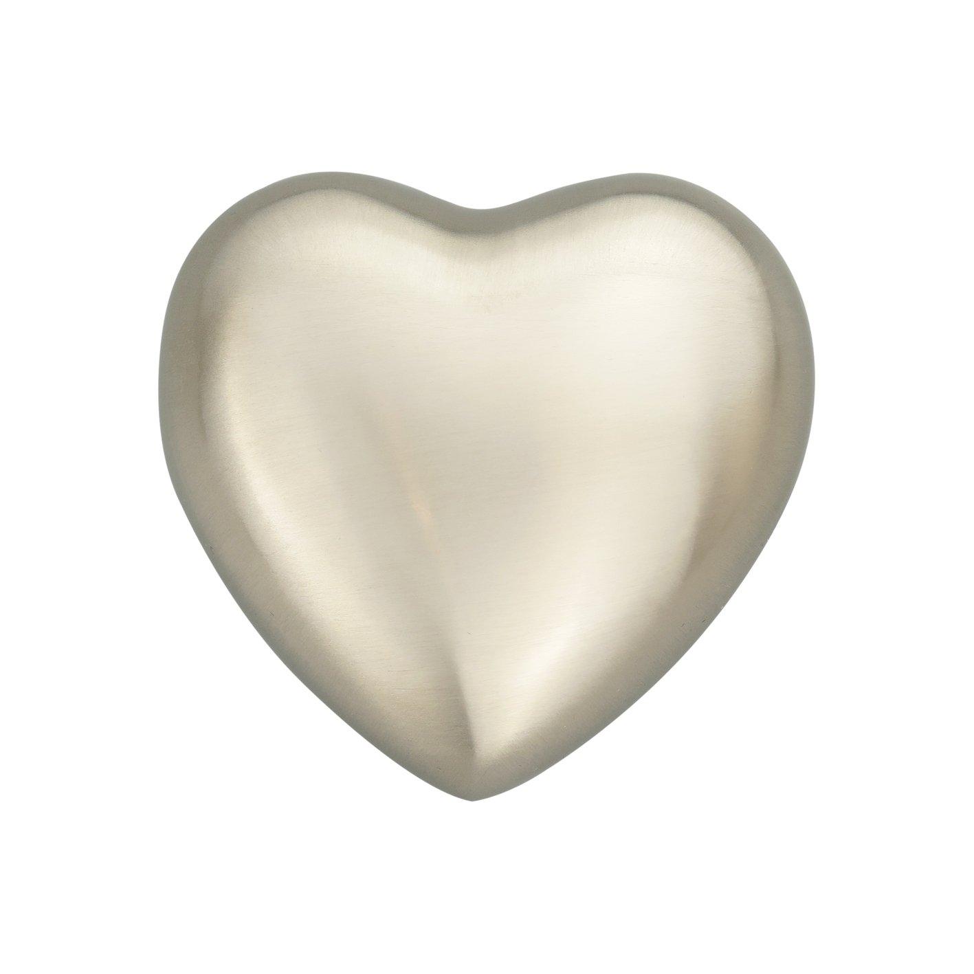 Love to Treasure Coeur d'argent Classique Rappel d'urne pour Chien Cendre de Chat Crémation