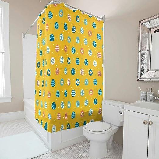Modern Designer Bathroom Shower Curtain Easter Printed for Bathroom