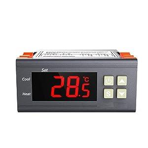 Temp Controller for Refrigerator, YueYueZou All-Purpose Fahrenheit &Centigrade Thermostat 110V
