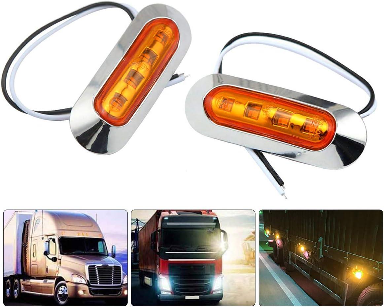 autob/ús Rojo Luces de 12 V 24 V indicador de Parada para Coche Luces LED Laterales de 8 x 4 ledes cami/ón Caravana MASO