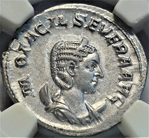 IT 244-49 AD Ancient Imperial Rome Antique Roman Silver Coin Rare Coins Double Denarius Choice About Uncirculated ()