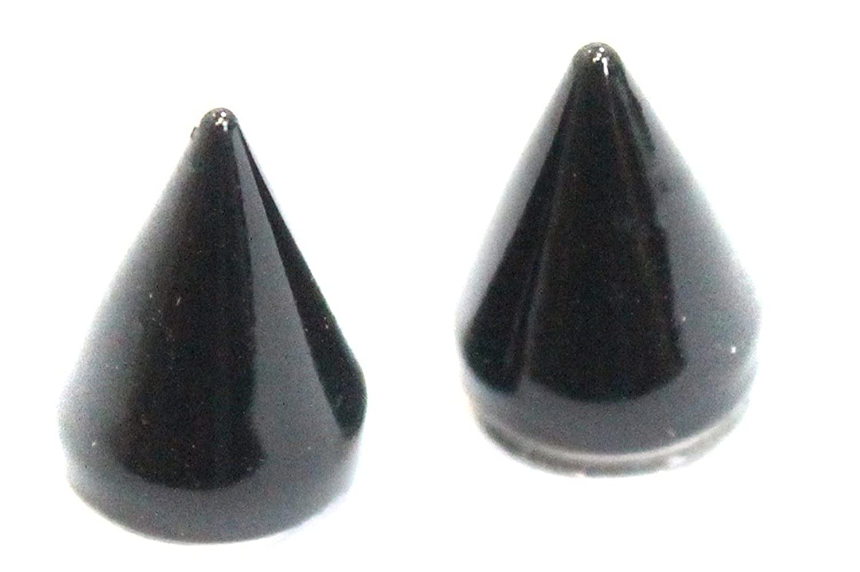 YES NO Fake No Need Piercing Ear Holes MAGNETIC Black Earrings Novelty Gift