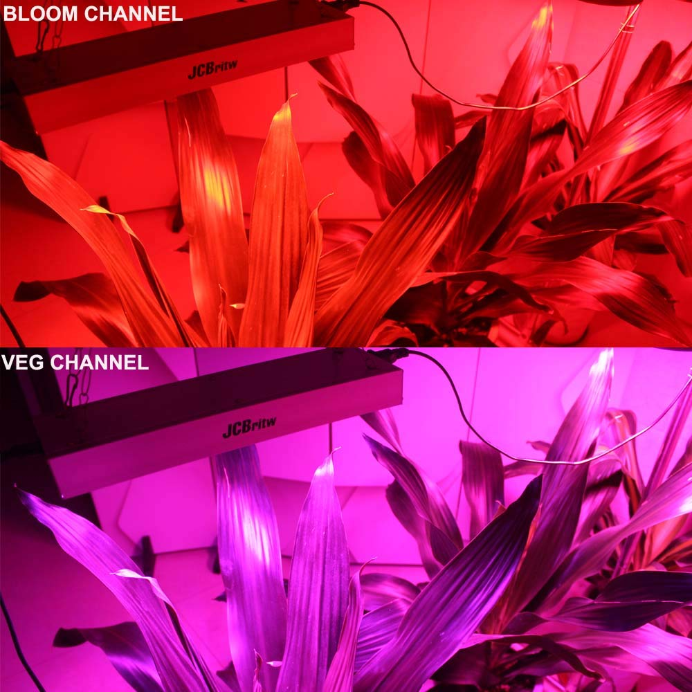 JCBritw LED Grow Light Panel Full Spectrum with Veg Bloom Dual Switch 30W Plus Plants Growing Lamps Aluminum Made with Daisy Chain for Indoor Plants Hydroponic Greenhouse Veg and Flower by JCBritw (Image #5)