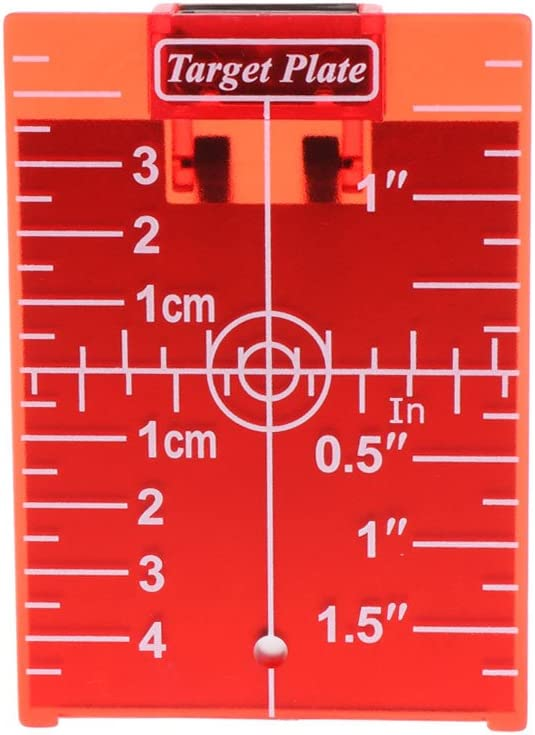 ANLIS Magnetic Red Target Plate pour Rotary Cross Line Laser Level Distance Mesurer Red