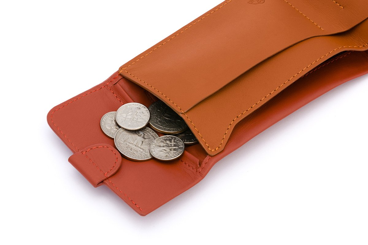 Bellroy Leather Coin Fold Wallet Tamarillo by Bellroy (Image #4)