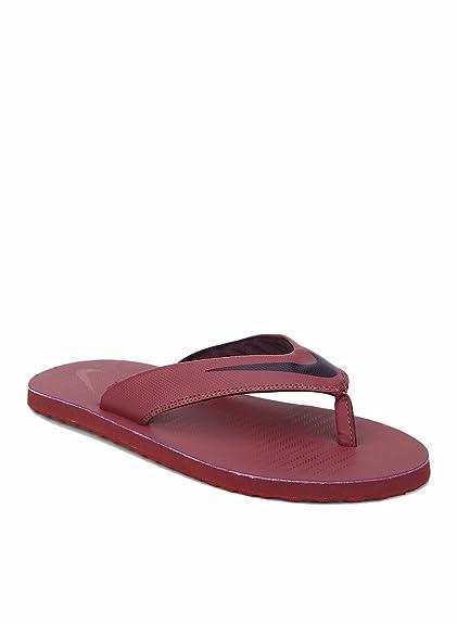 Nike Men's Port/Wine-Gym Red Chroma Thong 5 Slippers (10 UK/