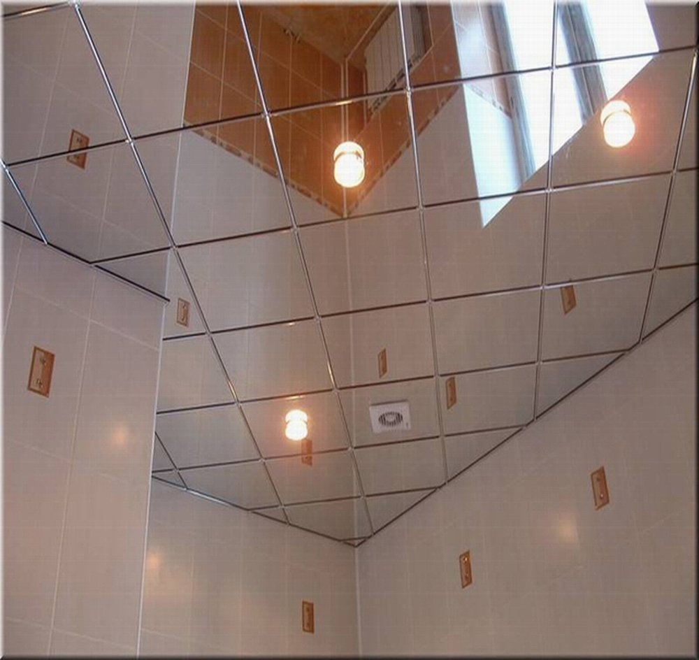 Amazon 2 x 2 mirror ceiling tiles box of 10 home kitchen dailygadgetfo Image collections