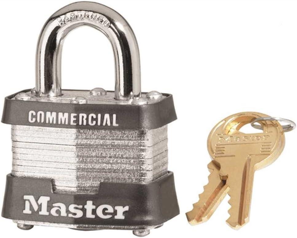"""Master Lock #3KA-0464 1-1/2"""" Lam Steel Padlock"""