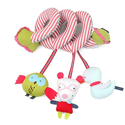 MAJINCGJ Newborn Baby Toy Cloth Toy Baby Multi-Function BB Bell car Lanyard Music, Bed Bell Bedside Stroller Toy, Baby Bed Decoration Pendant : Baby