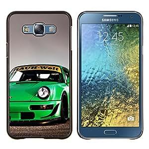 Qstar Arte & diseño plástico duro Fundas Cover Cubre Hard Case Cover para Samsung Galaxy E7 E700 (Rauh Welt 911)