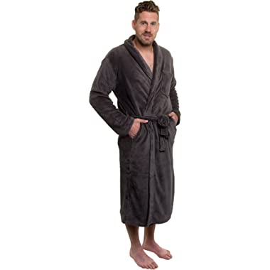 Ross Michaels Mens Plush Shawl Collar Kimono Bathrobe Robe
