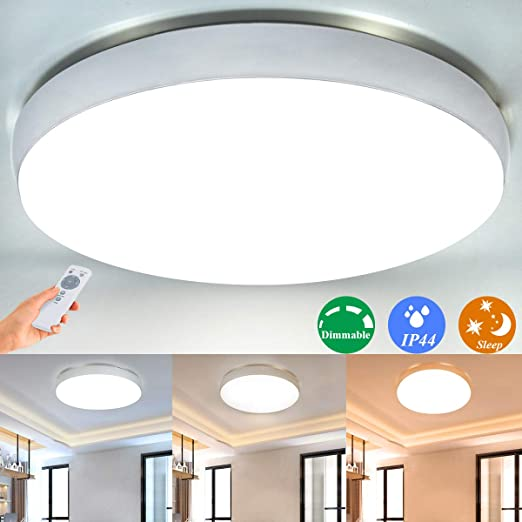 Amazon.com: Dimmable Led Ceiling Light Fixture with Remote ...