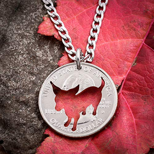 Chihuahua Necklace, dog jewelry, pet loss, pet memorial, dog necklace, dog jewelry, hand cut coin, by Namecoins