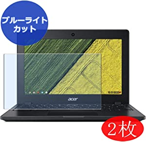 "【2 Pack】 Synvy Anti Blue Light Screen Protector for Acer Chromebook 11 C771 / C771T 11.6"" Screen Film Protective Protectors [Not Tempered Glass]"