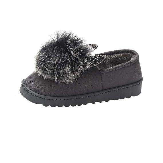 Zapatos de algodón para Mujeres de Invierno,Casual Zapatos de algodón pequeños Zapatos