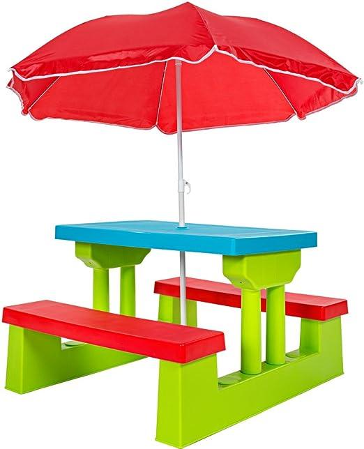TecTake Conjunto de Mesa y Bancos para niños Asientos sillas ...