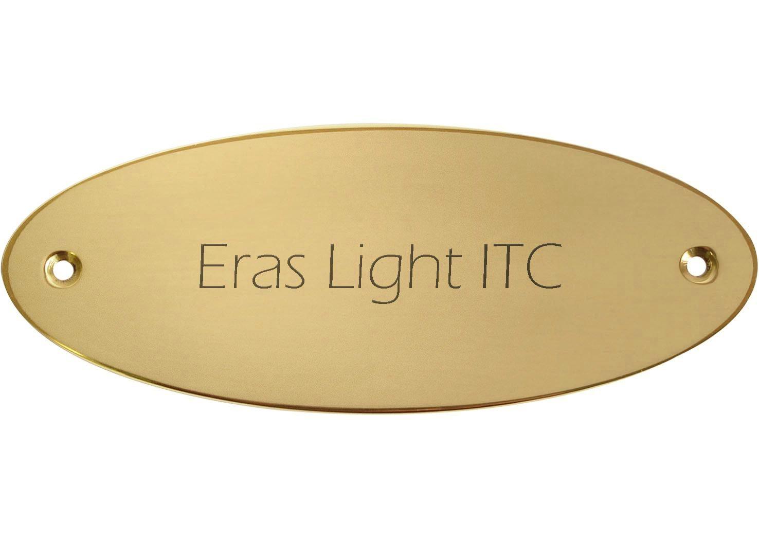 ovale 115 x 45 mm Kopierladen Targa campanello con incisione personalizzata targhetta in ottone di alta qualit/à carattere: Eras Light ITC