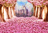 OFILA Fantasy Flowers Blossoms Backdrop 7x5ft Dreamy Princess Castle Rainbow Enchanted Garden Theme Baby Shower Party Fairy Tale Wedding Portraits Newborn Baby Photos Kids Shoots Video Props
