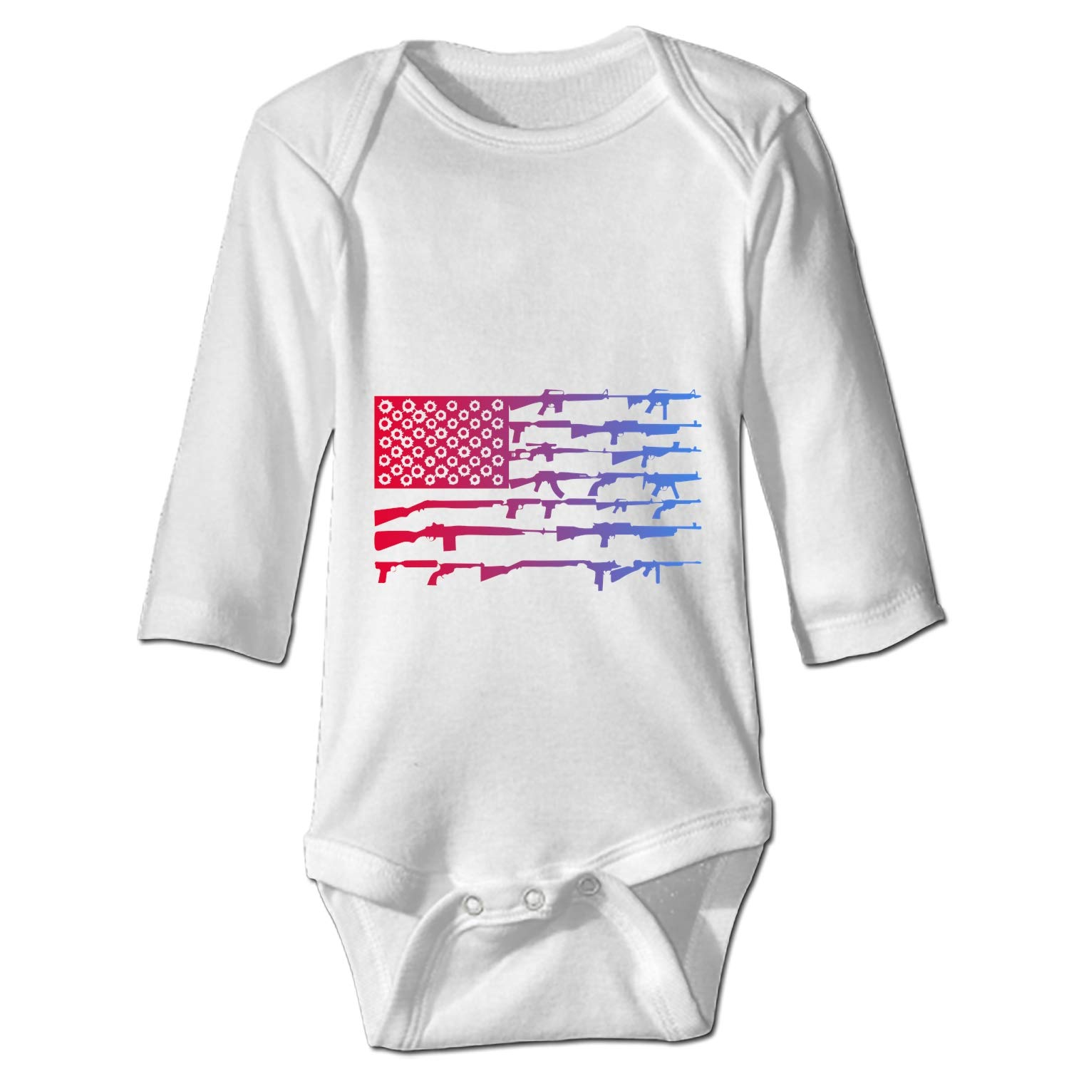 BABBY Armed with The American Flag Unisex Baby Bodysuit 6-24 Months