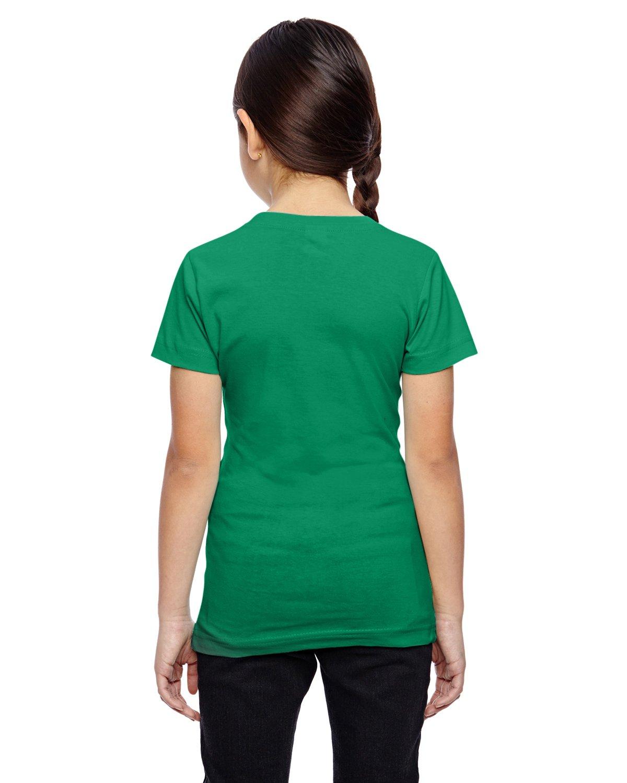 LAT Girls' Fine Jersey T-Shirt, Medium, KELLY